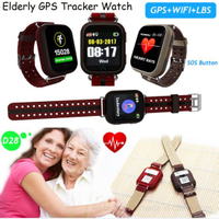 Elderly GPS Smart Watch Tracking with Heart Rate Monitor D28
