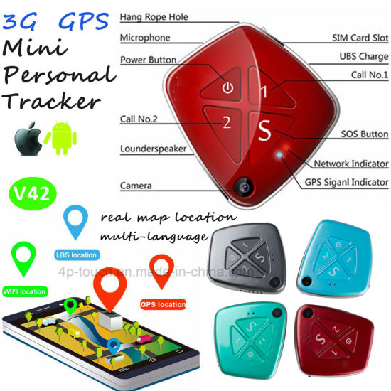 3G Network Personal GPS Tracker with Camera V42