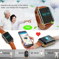Elderly Sos Button GPS Tracker Watch with Fitness Tracking Y16