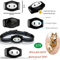 Pet GPS Tracker with Real Map Location D79
