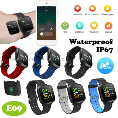 Waterproof Bluetooth Smart Bracelet with Heart Rate Monitor E09