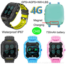 4G Lte Kids GPS Tracker Watch with Video Call Function D48