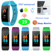 Newest Bluetooth Smart Bracelet Compatible with Android and Ios (I9)
