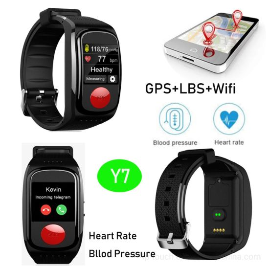 Senior GPS Tracker Bracelet with Heart Rate&Blood Pressure Monitor Y7