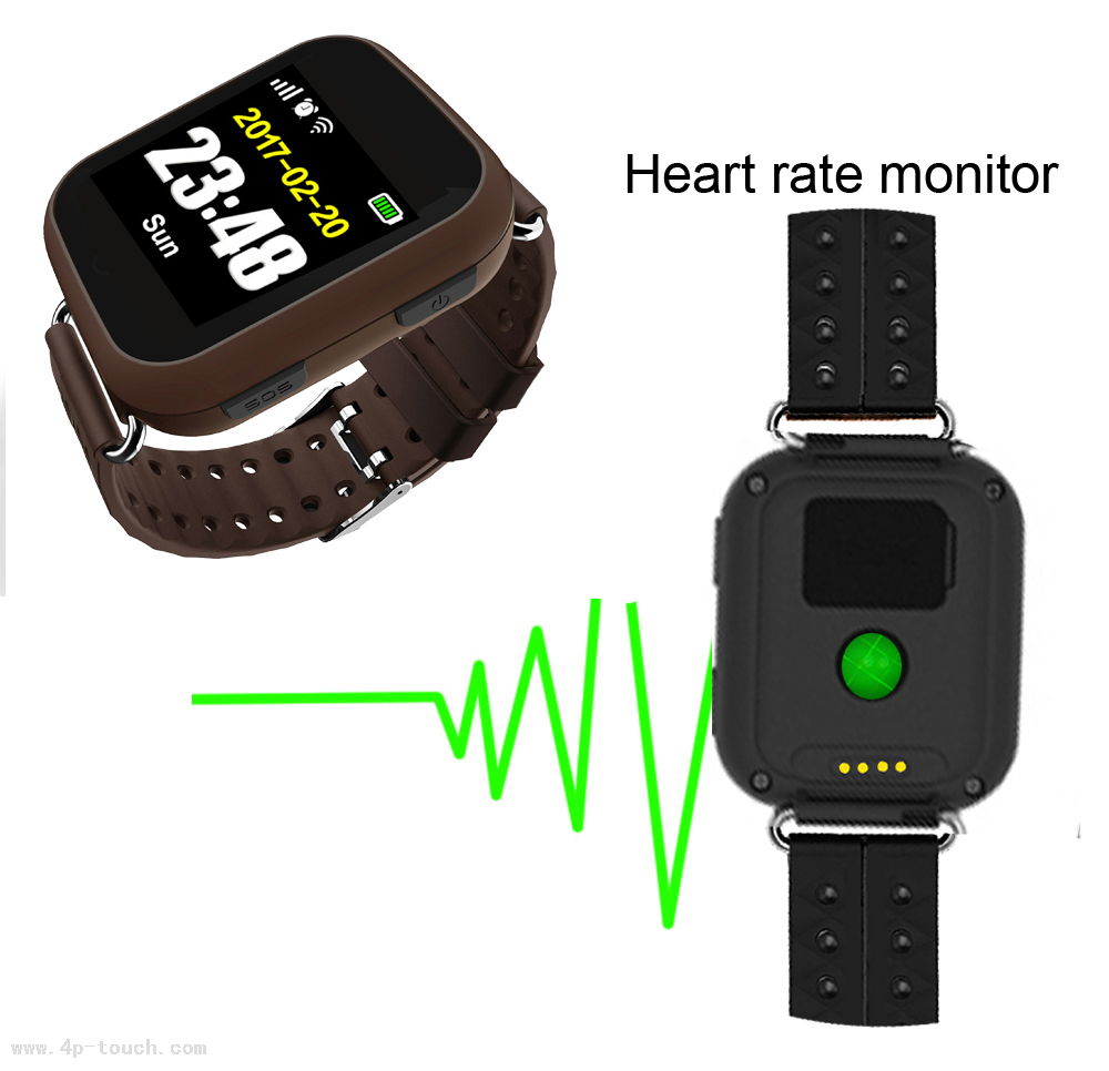 Real-time tracking Senior Smart GPS Tracker watch with Fall Down Alarm D28