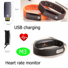Hot Sale Wearable Device Fitness Tracker with Heart Rate (M3)