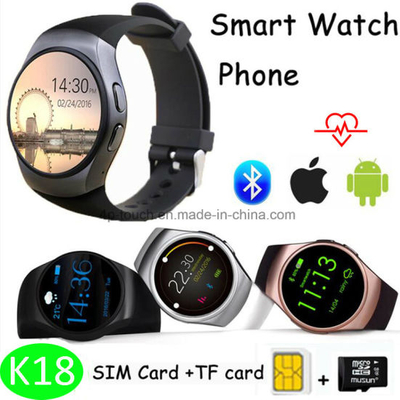 Round Screen Bluetooth Smart Watch Phone (K18)