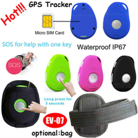 IP66 Waterproof hot Selling Mini GPS Tracker with SOS call(EV07)