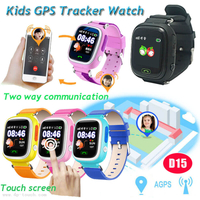 Splash Waterproof Kids GPS Tracking watch with multiple accurate positioning D15