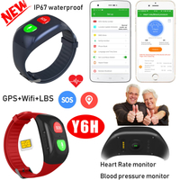 Waterproof Adult GPS Smart Bracelet Tracking Device with heart rate monitoring Y6H
