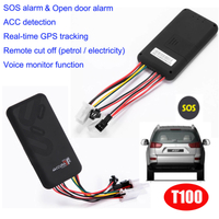 Hot Selling GPS Vehicle Tracker with Open Door Alarm T100