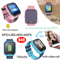 4G GPS Watch Tracker with Individual Video Call Icon (D49)