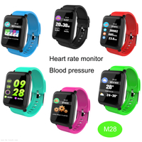 Bluetooth IP67 Waterproof Smart Bracelet Tracker with Blood Pressure measurement M28