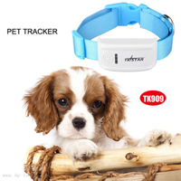 GPS Tracker for Dog/Cat with Geo-Fence and Shake Sensor (TK909)