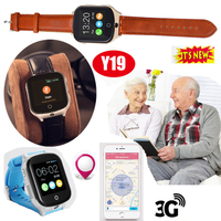 3G WiFi Adults GPS Tracker Watch with Sos Button Y19