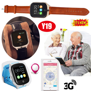 2019 High Quality 3G senior GPS Watch Tracking Device with pill alarm Y19