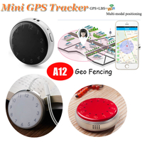 Mini Key Pendant GPS Tracker with Clock Display (A12)