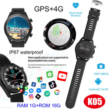 2019 New Android 7.0 4G GPS Bluetooth Smart Watch Phone with Multiple Sports Modes K05