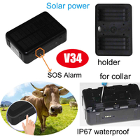 IP67 Waterproof Pet Solar GPS Tracker with 9000mAh Battery (V34)