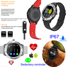 Five Colors Silicone Waterproof Smart Bluetooth Bracelet for Adults with Blood Pressure Monitor S18