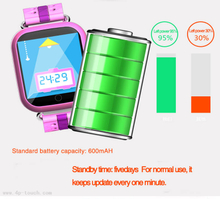 600mAh kids smart GPS Tracking Watch with Removal Alarm D19
