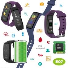 Smart Bracelet ECG+PPG Heart Rate Monitoring Wristband with IP67 Waterproof E07