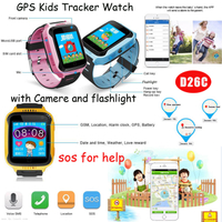 Hot Sell Kids GPS Tracker Watch with Remote Camera D26c