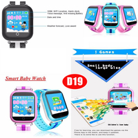 Large battery capacity Kids GPS Tracking watch with Sos Call D19
