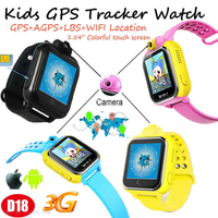 3G/WCDMA GPS Tracker Watch for Child with Remote Camera D18