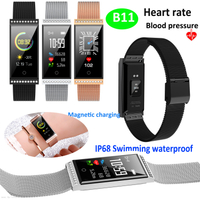 Women IP68 Waterproof Fitness Heart Rate Sport Smart Bracelet B11