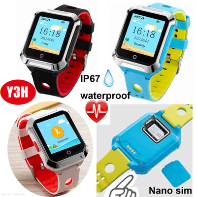 Waterproof Senior GPS Tracking Watch Phone with fall down alarm Y3H