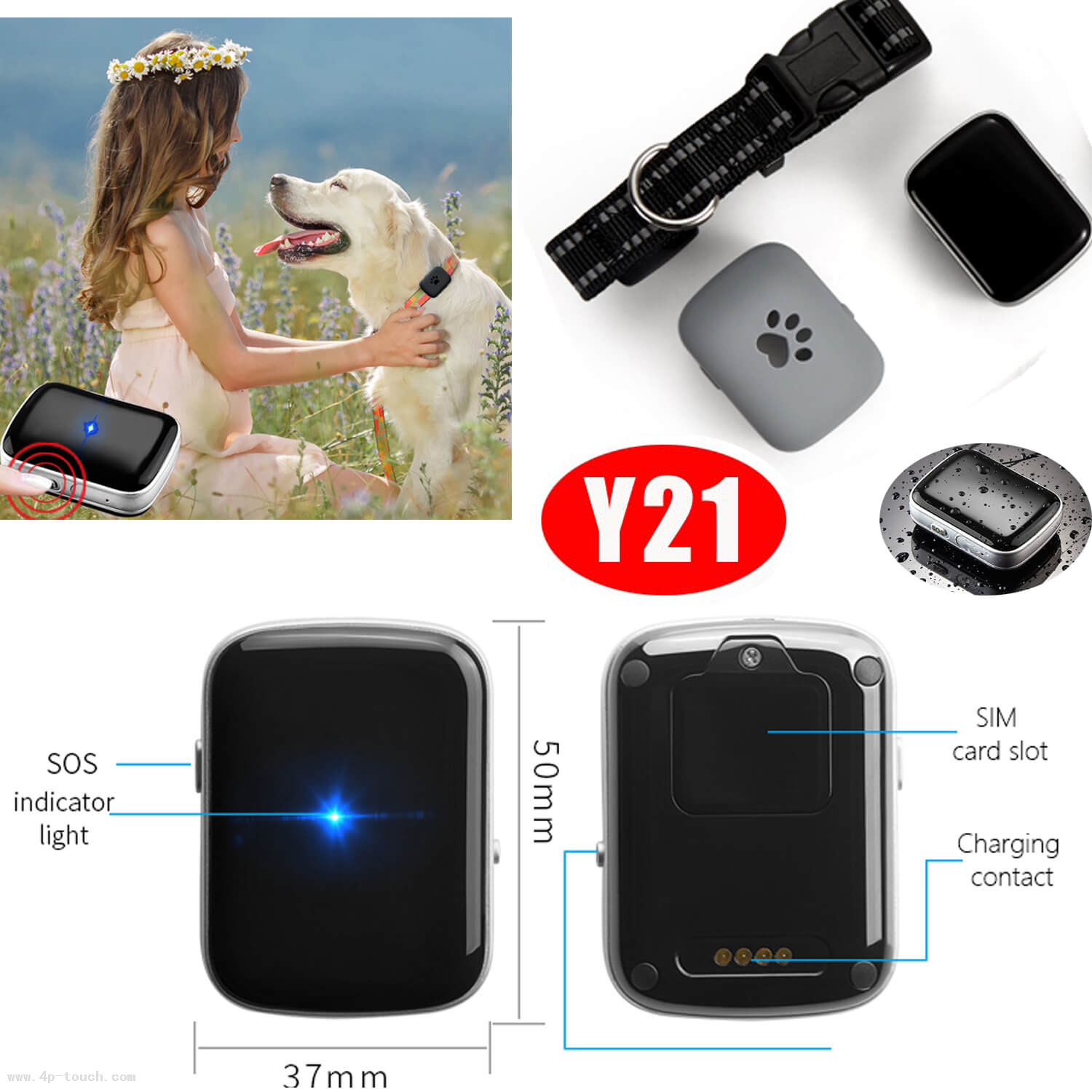 2018 New Design Pet GPS Tracker with Waterproof IP67 Y21