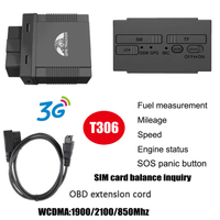 3G WCDMA OBD GPS Wireless Tracking Device Plug and Play T306