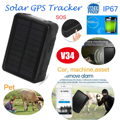 Solar Power Charged Long Standby Animal GPS Tracker V34