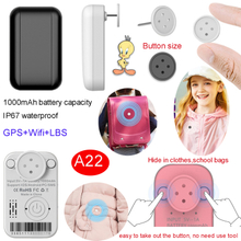Waterproof IP67 Mini Real Time hide clothes GPS Tracker with Sos button