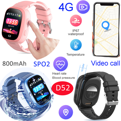 Touch Screen Kids Tracking 4G Smart Watch Mobile Phone with Video Call Thermometer