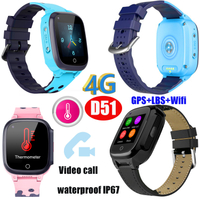 4G Video Call New Lanuched 4G/Lte Thermometer GPS Tracker Watch D51