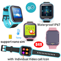 4G Waterproof IP67 Kids GPS Tracker Watch with video call D49