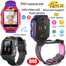 Waterproof Body Temperature4G/Lte video Call GPS Tracker Watch with Heart Rate Blood Pressure D40