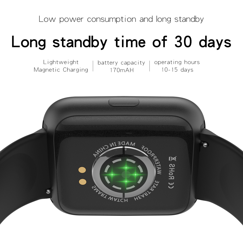 Smart Bluetooth Bracelet with heart rate and blood pressure T2