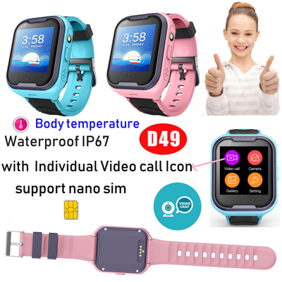 4G Video call GPS Watch Tracker with body temperature (D49)