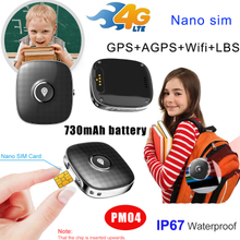 Waterproof SOS Alarm Portable 4G Mini Personal Real Time GPS Tracker