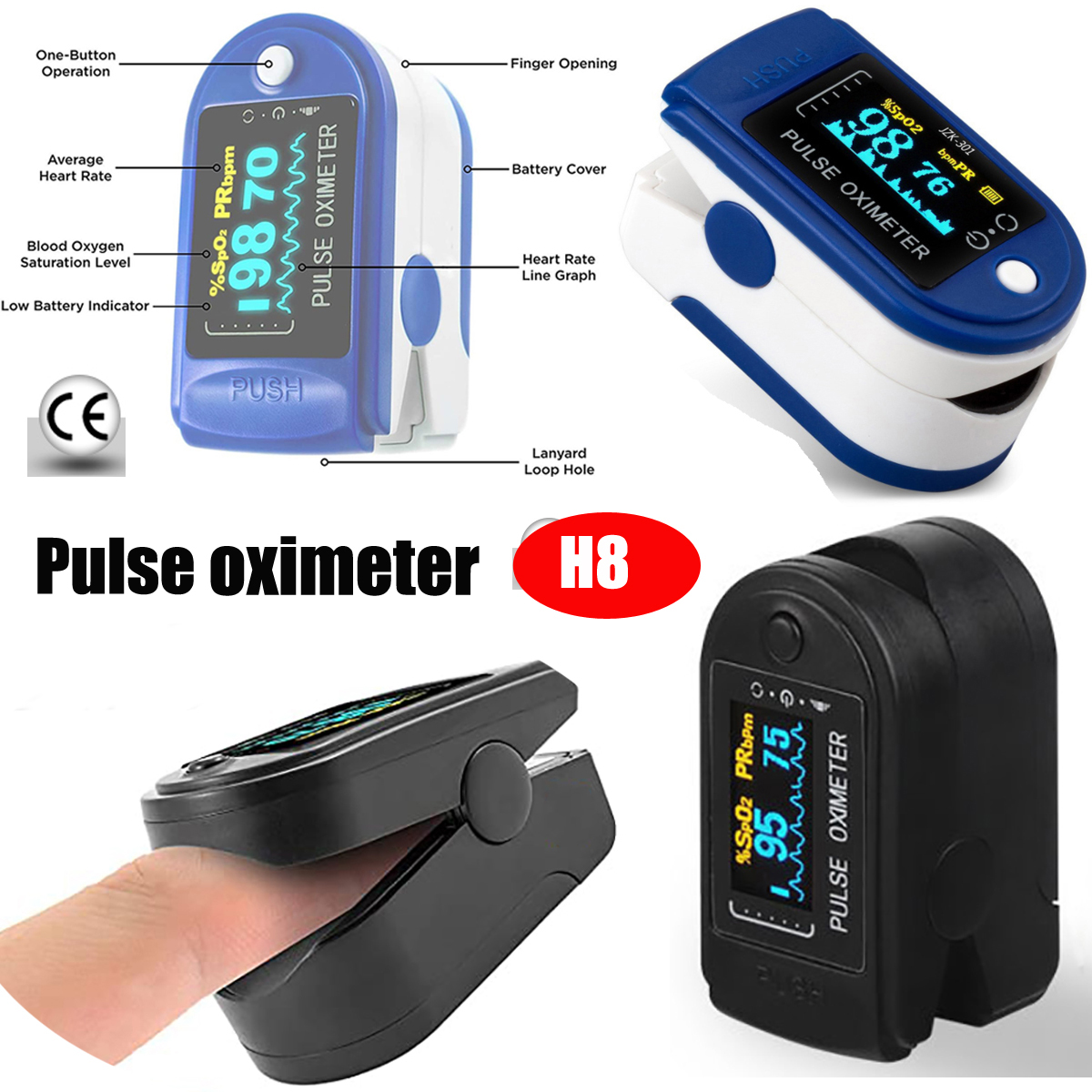High-Quality Oximeter Digital SpO2 Fingertip Pulse Oximeter