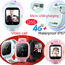 4G IP67 Waterproof New Developed Girls GPS Tracker watch with Video call D55