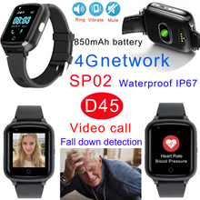 4G LTE Fall Down detection GPS Tracker Watch with Video Call
