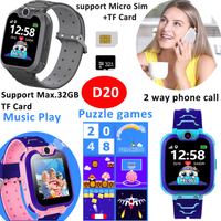 Touch Screen Phone Children Wrist Smart Watch With Camera Game SOS Music Player D20