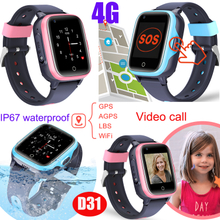 IP67 Waterproof 4G Smart Watch Phone Tracker with Global Video Call D31